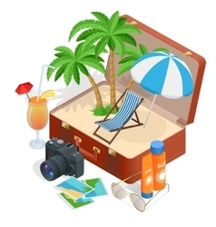 Trip to summer holidays travel to summer holidays vector