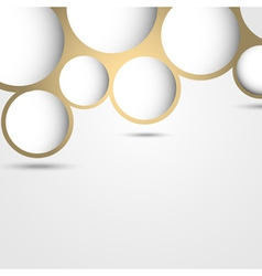 New design abstract bubble background vector image
