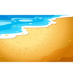A view of the beach vector