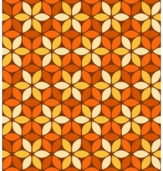 Abstract orange floral pattern vector image vector image