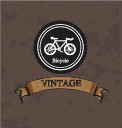 bicycle vintage logo vector image