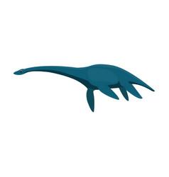 blue loch ness monsterthe monster of lake loch vector image