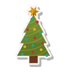 Christmas pine tree vector