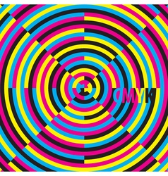 Cmyk cyan magenta yellow black moire effect vector