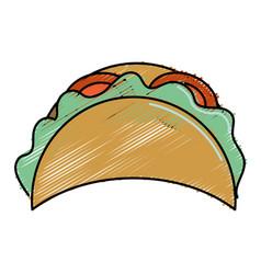 Delicious mexican tacos food vector