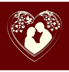 design with a man and woman vector image vector image