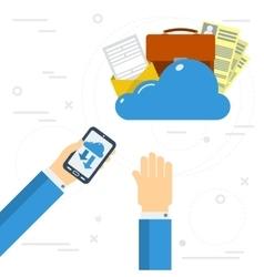 Easy online data storage vector