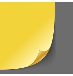 Empty paper corner vector image