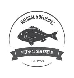 gilthead sea bream label vector image