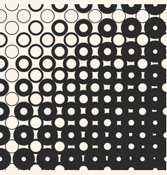halftone seamless pattern with circles and squares vector image