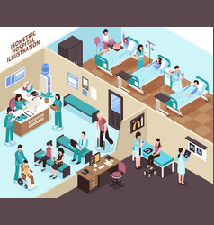 Hospital isometric vector