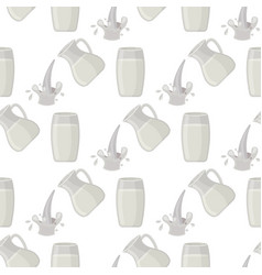 Jar of milk traditional nature nutritious vector