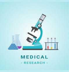 Medical researh microscope isolated vector
