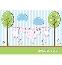 New baby girl card vector