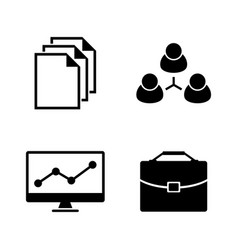 office simple related icons vector image vector image
