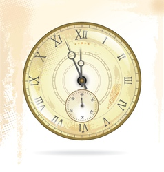 Old vintage clock face vector image