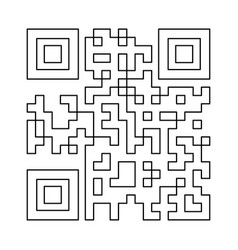 Qr code the black color icon vector