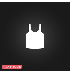 Shirt flat icon vector