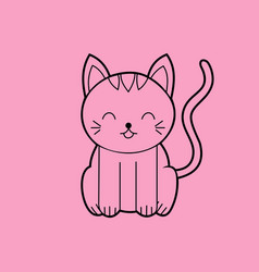 Sitting cat sitting cat meme vector