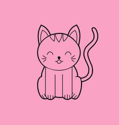 sitting cat sitting cat meme vector image vector image
