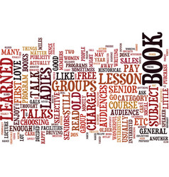 the lecture experience part i text background vector image vector image