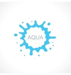 water splash abstract symbol vector image vector image