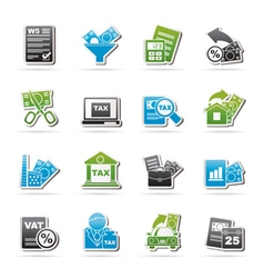 Taxes business and finance icons vector