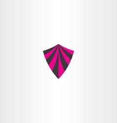 Magenta black shield icon element vector