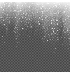 Falling snow on a transparent background vector