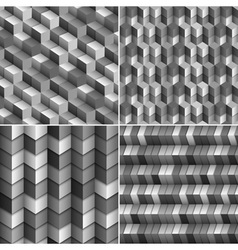 Monochrome blocks backgrounds vector