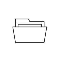 Folder outline icon vector
