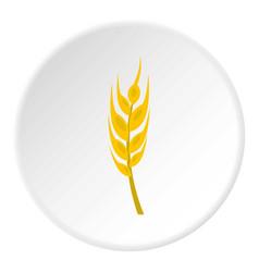 Barley spike icon circle vector