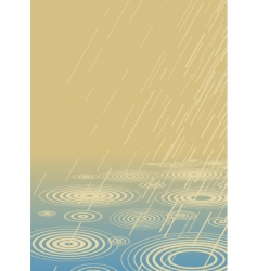 light rain vector image