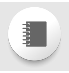 Black notebook icon isolated on white vector