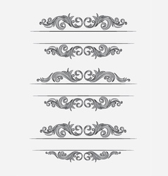 Label classic floral set vector
