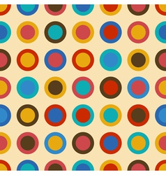 Vintage seamless pattern with colorful circles vector