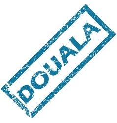 Douala rubber stamp vector image