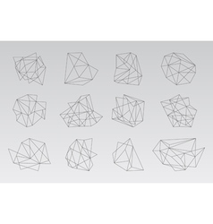 Set of geometric hipster shapes2 vector
