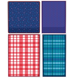Four patterns of clothing vector