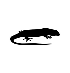 Lizard black silhouette vector