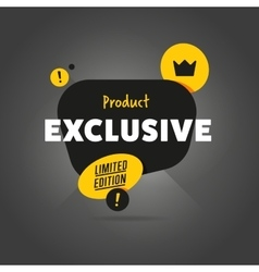 Exclusive product isolated banner vector image