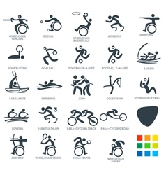Paralympics Icon Pictograms Set 6 vector image