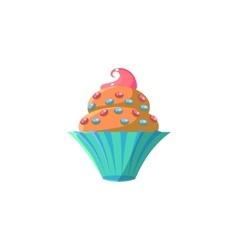 Cute cupcake with sprinkles vector