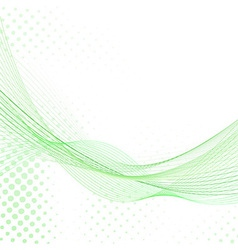 Abstract fresh green lines background vector image vector image