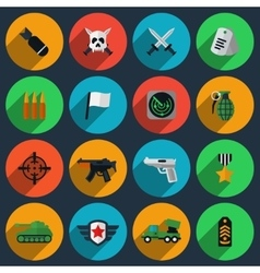 Army and war icons vector
