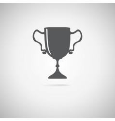 black trophy icon vector image vector image