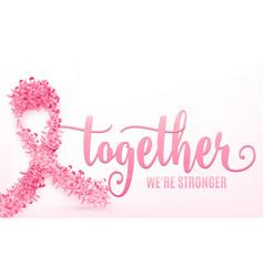 breast cancer ribbon vector image