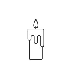 candle line icon vector image vector image
