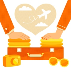 couple packing vector image vector image