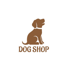 dog shop logo vector image vector image